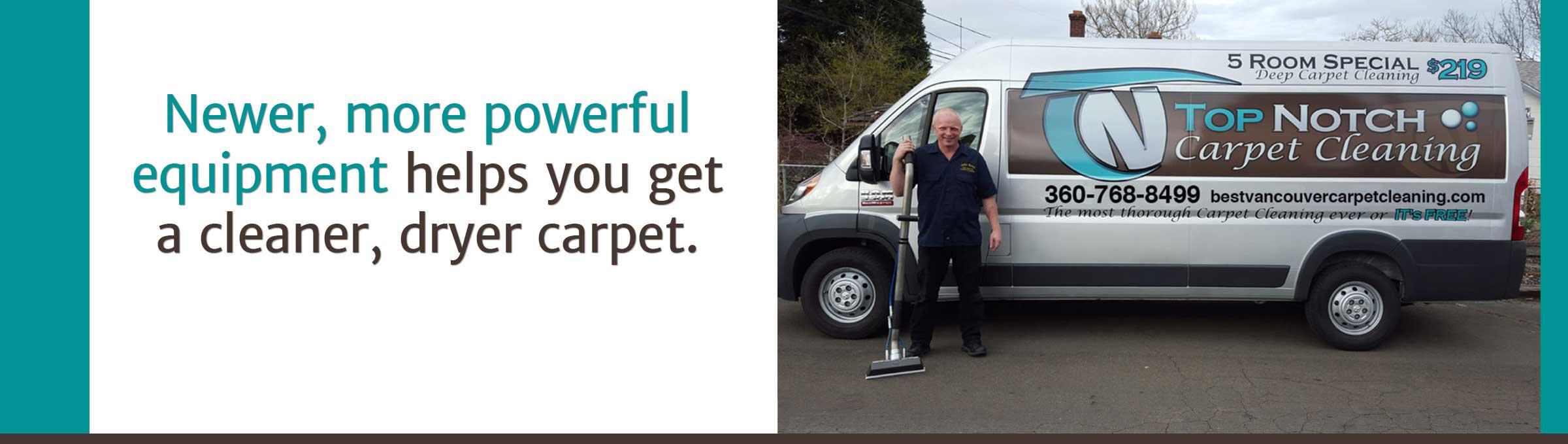 Top Notch Carpet Cleaning Van in Vancouver WA & Camas WA