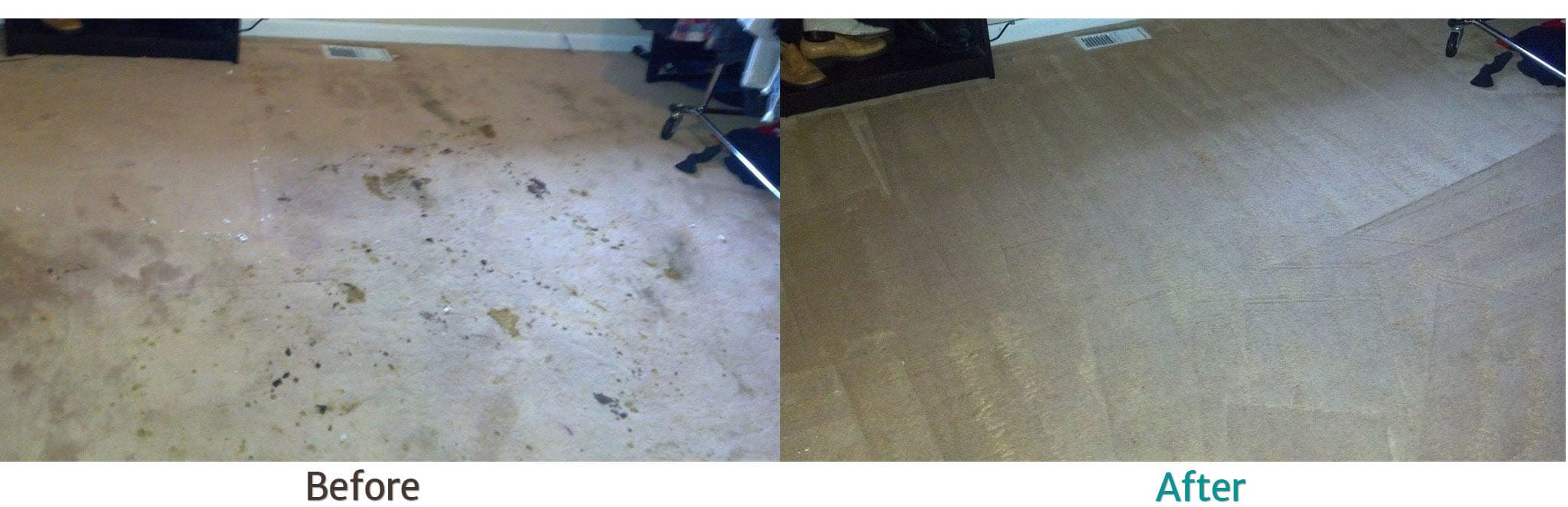 before and after carpet cleaning example